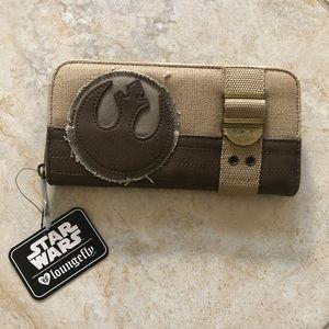 The force awakens rebel alliance canvas wallet